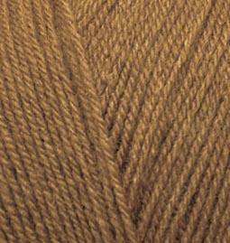 Пряжа для вязания Ализе Superlana TIG (25% шерсть, 75% акрил) 5х100г/570 м цв.137 табачно-коричневый